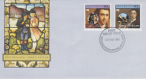 AUSTRALIA 12 MARCH 1986 NEW HOLLAND COOKS VOYAGE OFFICIAL FIRST DAY COVER SHS