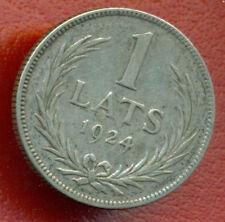 LATVIA LETTLAND 1 Lats 1924 SILVER COIN 2169