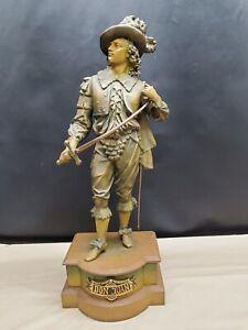 "Vintage Bronze Don Juan 21"" Statue"