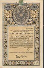4. Österreichische Kriegsanleihe zu 5.000 Kronen aus 1916