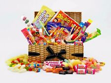 """HAPPY BIRTHDAY"" Gift Wrapped RETRO SWEET Hamper LARGE Mix 16 18 21 30 40 50 60"