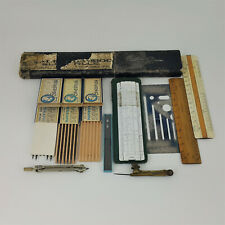 More details for sun hemmi bamboo slide rule & miscellaneous drawing instruments (rare)