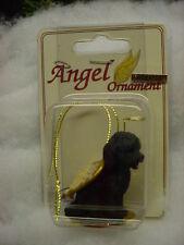 Black Cockapoo dog Angel Ornament Hand Painted resin Figurine Christmas puppy