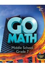 Grade 7 HMH Go Math Student Worktext Edition Common Core 7th 2014 Middle School