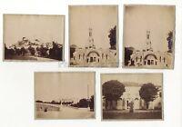 Pesanti Francia Lotto Di 5 Foto Vintage Albumina Ca 1880