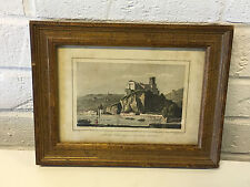 Vintage Antique Engraving Print France Ancien Chateau de Pierre Scize
