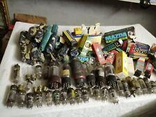 Lot de plus de 70 anciennes ampoules lampes pour transistor et autres : Mazda, P