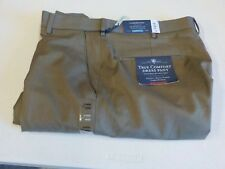 MENS SIZE 34X30 CROFT & BARROW TRUE COMFORT WHEAT DRESS PANTS NEW #3701