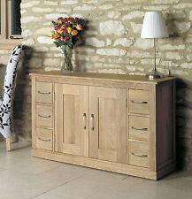 Solid Chunky Oak 6 Drawer Large Sideboard Cupboard Cabinet Unit | Baumhaus Range