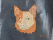 New Australian Cattle Dog Head View Embroidered Sweatshirt