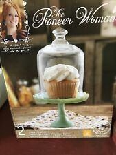 Pioneer Woman Mini Jade Cupcake Stand-NEW IN BOX Jadite