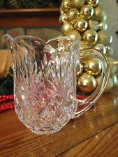 """ABP LEAD CRYSTAL WATER PITCHER 7.5"""" EXCELLENT USED  CONDITION"""