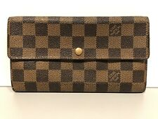 Louis Vuitton Damier Portefeuille Sarah Purse Wallet Checkered LV Coin Wallet!