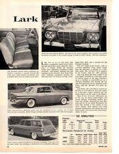 1962 Studebaker Lark ~ Original New Car Preview Article / Ad