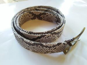 Men's Genuine Snake Skin Exotic Belt Natural