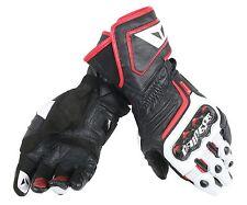 Dainese Lederhandschuhe Gr.XXL Carbon D1 Long schw/weiß/rot NEU Motorrad