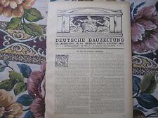 1920 Bauzeitung 64 / Leipzig Volksbühne