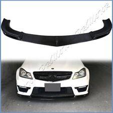 3K Carbon Fiber V Style Front Spoiler Lip For BENZ W204 C204 12-14 C63AMG Bumper
