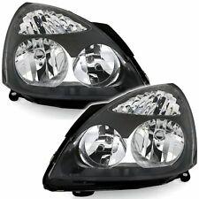 RENAULT CLIO MK2 BLACK  HEADLIGHTS HEADLAMPS 6/2001 - 5/2005 MODEL