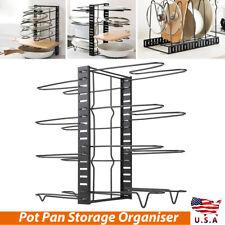 Home Kitchen Frying Pan Pot Cupboard Rack Organizer Shelf Storage Stand Holder