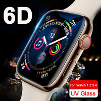 6D UV Liquid Tempered Glass Screen Protector For Apple Watch 5 4 3 2 38/40/42/44