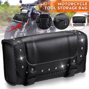 Universal Motorcycle Fork Tool Bag Roll Barrel Pouch Handlebar Saddlebag Storage