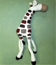 "25"" Woolbuddy Giraffe Plush Wired Flexible Legs Ivory with Brown Tan Spots Toy"