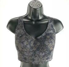 Victoria's Secret Angel Max Sports Bra  Black Paisley - Size 32DDD  Athletic New