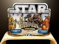 New STAR WARS Galactic Heroes C-3PO & CHEWBACCA Action Figures! Sealed! Hasbro