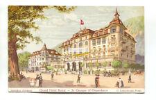 Interlaken - Grand Hotel Royal - 1913 used Switzerland postcard