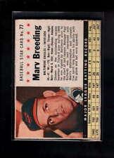 1961 POST CEREAL #77 MARV BREEDING BOX EX F1869