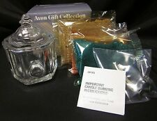 "Avon Gift Collection Glistening Creation Candle Glass Candle Holder Diy 3.5"" Vtg"