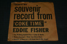 EDDIE FISHER 45EP W/PIC.SLEEVE SOUVENIR RECORD FROM 'COKE TIME'-RCA 1953 VG+ OOP