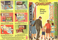 Milton Bradley Co 1961 Pamphlet Fun & Learning Games Candy Land Racko Easy Money