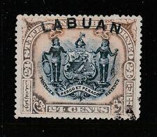 1897 LABUAN 24c Blue & Lilac-Brown Perf 15 VFU Sg 100a CV £60