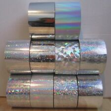 10 x Silver Nail Art Wrap Foils Transfer Glitter Sticker Decal Decoration