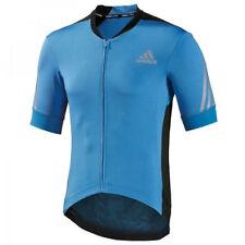 adidas Short Sleeve Cycling Jerseys with Full Zipper