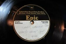 "CYNDI LAUPER what's goin' on EPIC ACETATE 10"" SINGLE RECORD 45 RPM"