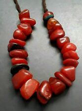 Vintage Handmade Berber Large Bead Moroccan Necklace Amber ResinTribal Jewelry