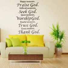 Happy Moment Praise God Removable Wall Sticker Phrase Word Home Decor Decors W67