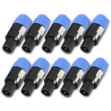 10PCS Speakon Connector 2 Pole Male Plug Compatible for Audio Loudspeaker Cable
