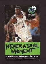 Dallas Mavericks--Michael Finley--1997-98 Schedule--Coors Light--Green Version