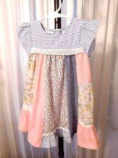 Blueberi Boulevard Girl's BOHO Style Cap Sleeve DRESS Size 3T with Lace Trim