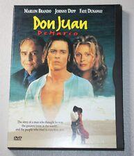DON JUAN DE MARCO (DVD, 1998) JOHNNY DEPP, MARLON BRANDO ~DVD + CASE