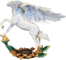 Faerie glen Pegasus su girasole in pietra d'arte (POLIRESINA)