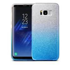 COVER Custodia Glitter GRADIENTE Morbida GEL Silicone per Samsung Galaxy S8 Blu