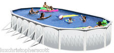 "Deep Salt Oval 18' x 39' x 72"" Above Ground Steel Swimming Pool FULL Package"
