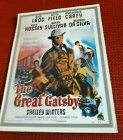 POSTER LOCANDINA The Great Gatsby  (1949) Alan LADD Da SILVA cornice facoltativa