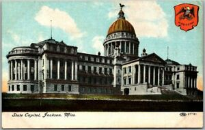 Jackson, Mississippi Postcard State Capitol Building View c1910s