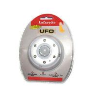 Ufo lampada 6 LED sensore PIR movimento a batteria (4 AAA)
